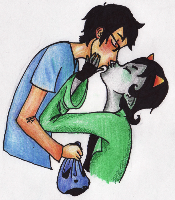 HAA kissing meme request finished, john and nepeta just kissing!!
