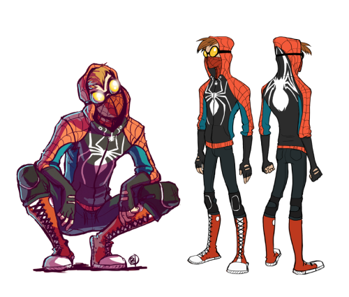 jesic:  Woahhh. Rosy Higgins' Spider-Man redesign is awesome. This is the kind of costume a kid could actually put together. Plus those boxer boots are fucking amazing.  NEW OFFICIAL PROJECT.