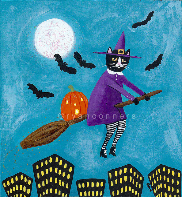kilkennycat:  witch over the city on Flickr.