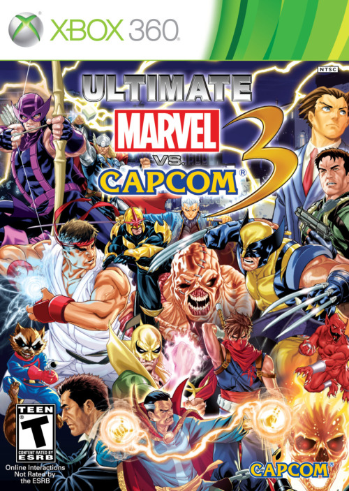 videogamenostalgia:  Official Art for Ultimate Marvel vs Capcom 3 (via: crimsonviper)