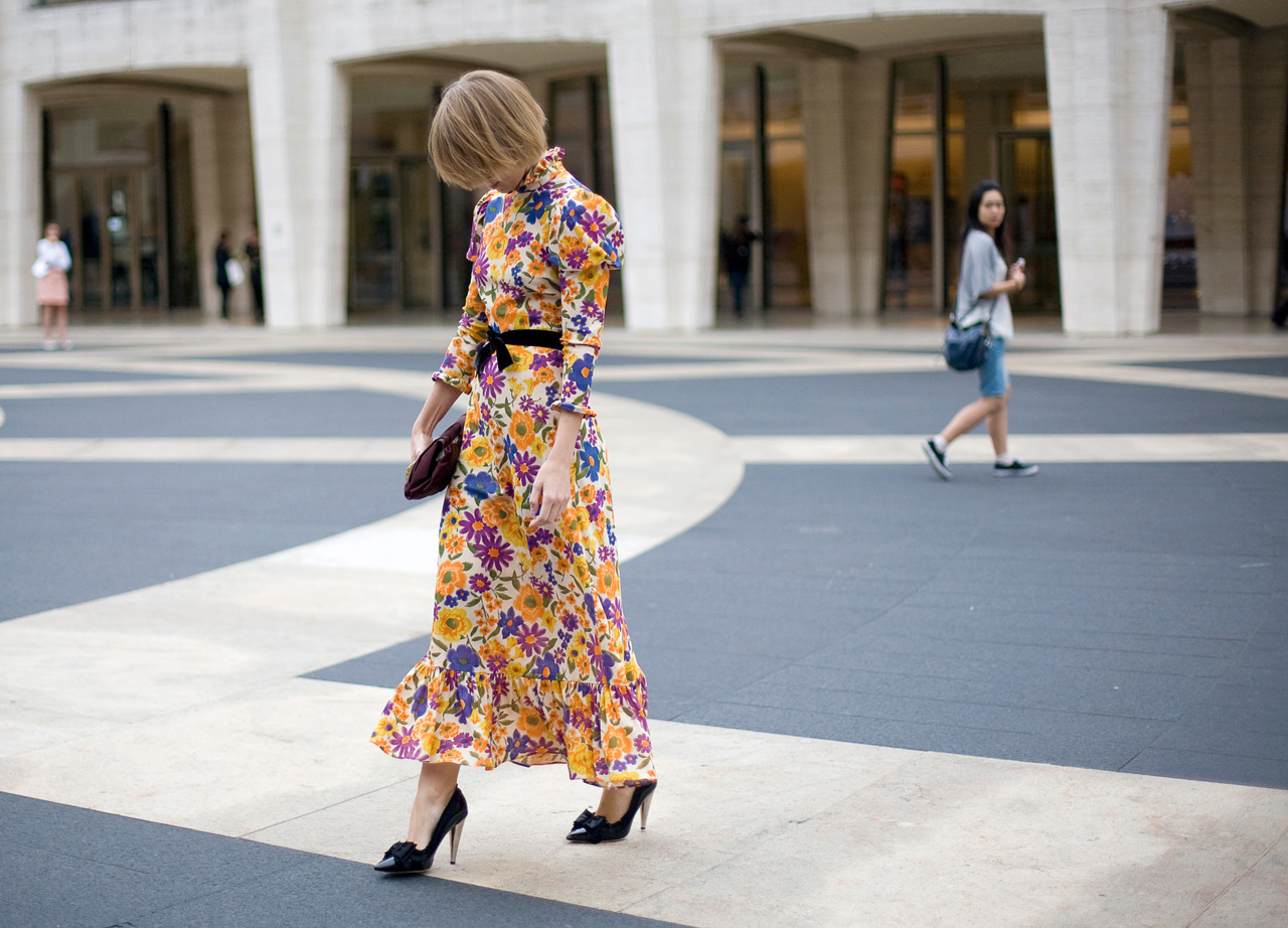 vogue:  STREET STYLE: New York Fashion Week  vintage?