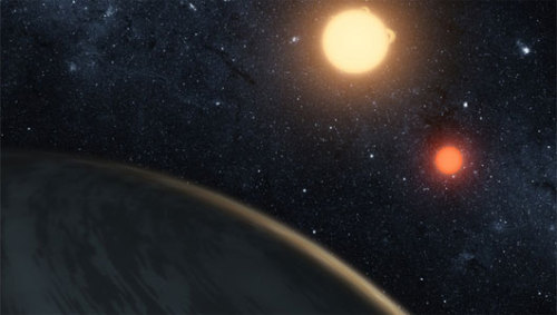 mothernaturenetwork:  Astronomers discover real-life version of Luke Skywalker's home planet of TatooineSince the world and the two stars are on the same plane, scientists theorizes that the celestial bodies formed from the disk of dust and gas.