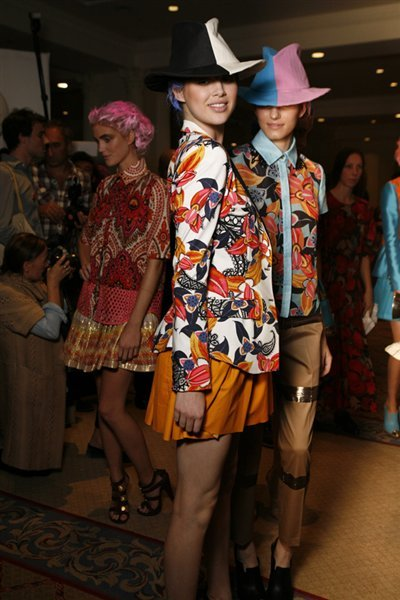 "Thakoon Womenswear S/S12 Love the prints and colours in this collection, described by Susie Bubble (dazeddigital.com) as ""Spaghetti Western meets Indian journey""."