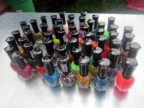 Went in with 4 friends for a big Kleancolor polish order.  Arrived today!  Behold!  51 bottles of pure joy.