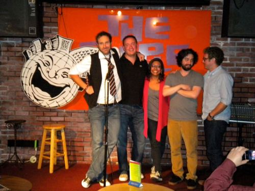The  Top Five from the first night of the 2011 San Francisco Comedy  Competition: 5. Lars Callieou, 4. Jules Posner, 3. Alex Koll, 2. Shanti  Charan and #1, Sean Kent.  (via Facebook)