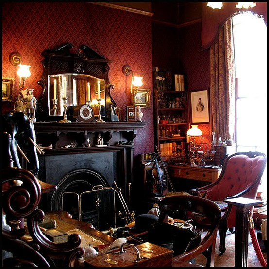 thatbohemiangirl:  My Bohemian Home ~ Living Rooms  Sherlock Holmes Museum in London (thanks, lifeisnesi!)