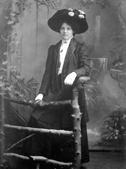 treselegant:  An unknown Edwardian lady. She and her family's belongings were rescued from a house clearance in Powys, Wales. Little is known about the family but for the ephemera they left behind.