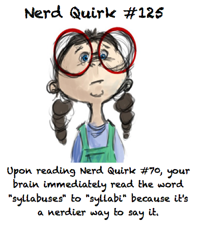 For Nerd Quirk #70 click here.  Thanks to dinosrawr (woah cool name) for this creative suggestion!
