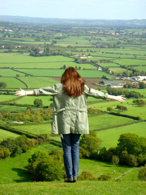 At the Glastonbury Tor. The Sidhe made me do it :}