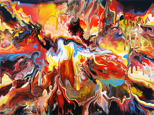 oxane:  Melting Landscape Abstract Painting by markchadwickart