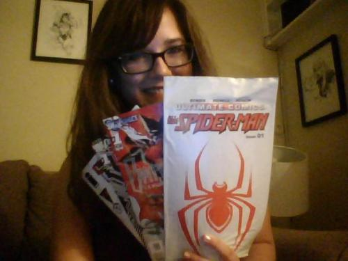 These are my comics I got this week! Can't wait to open Spider-Man!   SHOW ME YOUR COMICS! Or at least tell me what you got!