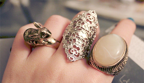 Statement cocktail rings.