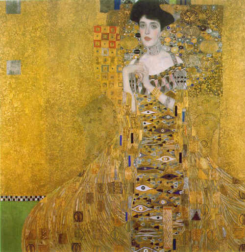 peril:  Adele Bloch-Bauer (1907) oil and golden and silver foil on canvas | artwork by Gustav Klimt