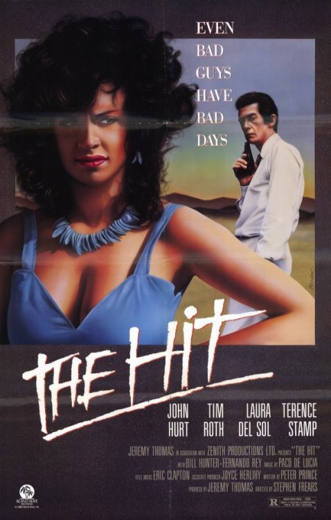 rossbirks:   #321 The Hit (1984) Dir. Stephen Frears  A great and low-key little crime movie. What I loved about it was how the whole film seemed built around this one little scenario that most mob-movies have but usually don't even bother to touch upon. The movie is all about John Hurt and Tim Roth picking up Terence Stamp and taking him from A to B where they intend to kill him. Most movies would just get rid of the entire car ride with a cut but Frears made a whole movie about it.