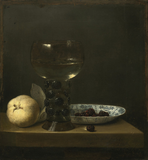 Jan Jansz. van de Velde, Still Life with Goblet and Fruit