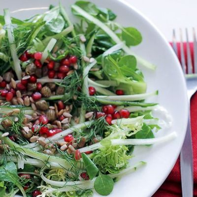 Cucumber, Capers and Pomegranate