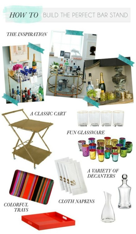 (via For the Home / I really want a fabulous bar cart for my apartment!)