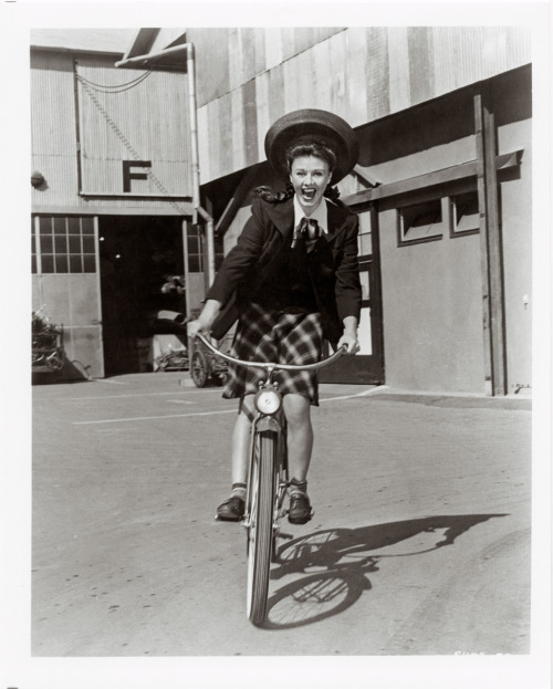 ridesabike:  Ginger Rogers rides a bike.