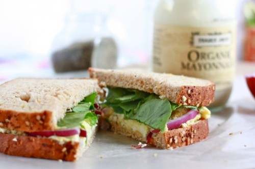 gastrogirl:  simple egg salad sandwich.
