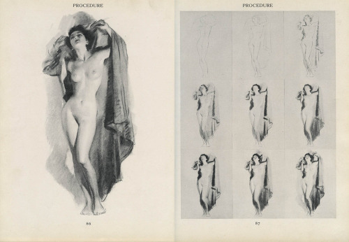 "prostheticknowledge:  Figure Drawing for All It's Worth (1943) via Codex 99 A look at a figure drawing book by the former commercial artist William Andrew Loomis:  Figure Drawing, a book intended for beginning commercial artists, was in every way more ambitious than Fun with a Pencil. Loomis' approach to geometry, proportion and perspective as well as balance, rhythm and movement was as lucid and essential as anything ever published on the subject. It was a classic of illustration. The American Academy of Art even called it ""one of the most brilliant  contributions that figure drawing has ever received""  More info and lots more great scans (in high definition) from the book, looking at various aspects of drawing and sketching, can be found here"