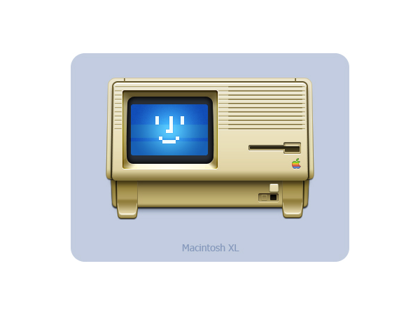Happy Macintosh XL!  (Created by Neora on Dribbble.)