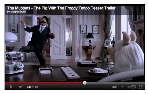 This bit is gonna kill in The Muppets. What a brilliant idea.