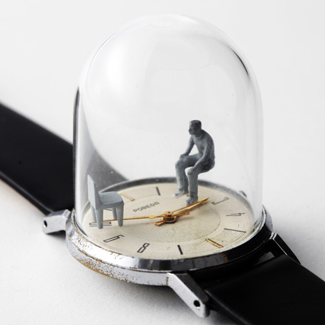 ryanpanos:  Watch Sculptures: Moments in Time by Dominic Wilcox