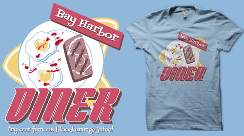 odysseyroc:  The Dexter season premier is coming up. Pick up this Bay Harbor Diner t-shirt from redbubble today!