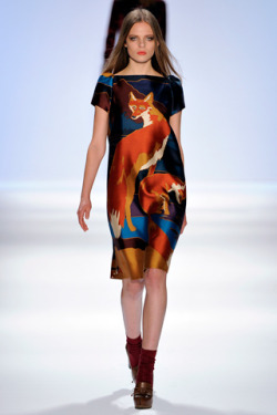 fox dress by Jill Stuart fall 2011