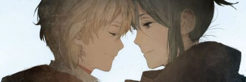 """A world without you in it means nothing, Nezumi. It means nothing to me at all."" Fingers seized his chin and yanked it upward. The dark grey eyes were mere inches away. ""What a naughty, stubborn little boy. Just how old are you supposed to be?"" The tone of voice was a laughing woman's. ""Nezumi, I'm serious, I…"" Lips covered his. The kiss was hot, tender and fierce. ""Was that…a goodbye kiss?"" ""A kiss to seal a vow."" Nezumi smiled. ""We will be reunited, Shion. "" —No. 6 novel #9 - how it ends (via lauumartiinez)"