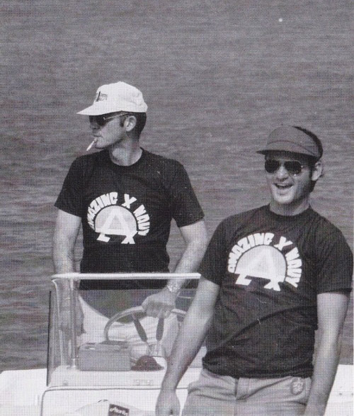"Hunter S. Thompson & Bill Murray. This photograph is entitled ""People Justin Likes."" [via suicideblonde]"
