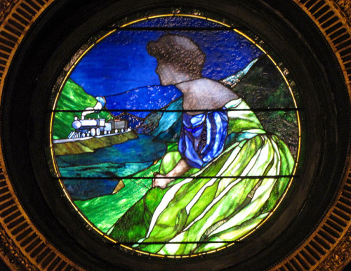 Stained glass window by Louis Comfort Tiffany from the Senate chamber in Harrisburg, PA. Photo by rlsycle.