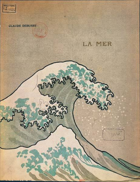 mythologyofblue:   Katsushika Hokusai, Debussy: La Mer/The Great Wave of Kanaga, 1905.  (rulingstone)