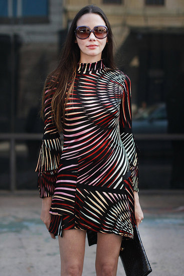 Love this print (Spring 2012 New York Fashion Week Street Style)