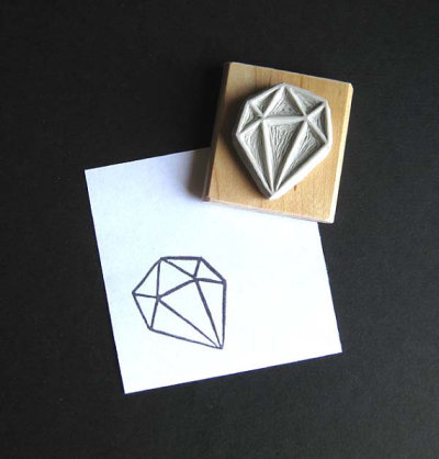 (via Crystal Configuration 22 Hand Carved Stamp by extase on Etsy)