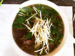 beef pho at mangosteen
