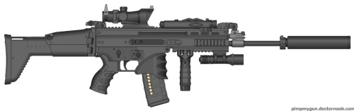 hiyp:  My extremely hard attempt to make a FNH SCAR-L look cool…. FNH you guys aren't helping… but I half succeeded   Tactical overkill mate. Try a CQC variant