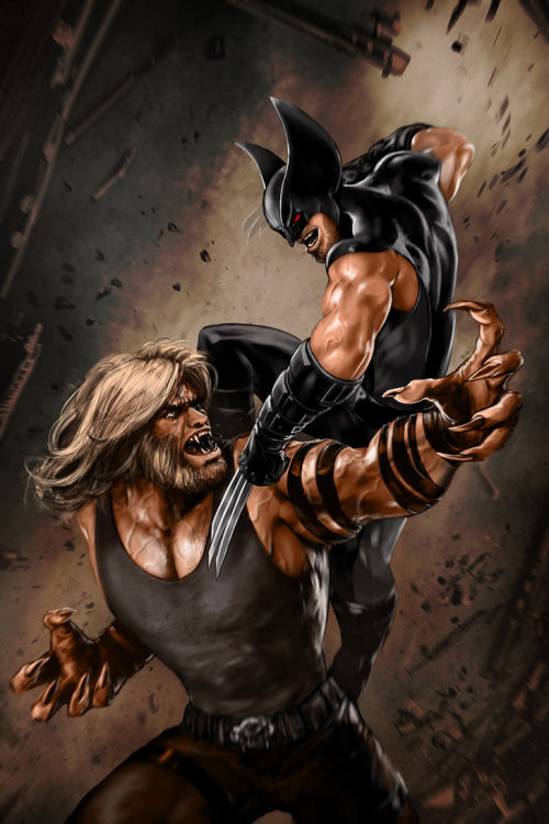 wolverineholic:  Logan vs. Sabretooth by skribblix