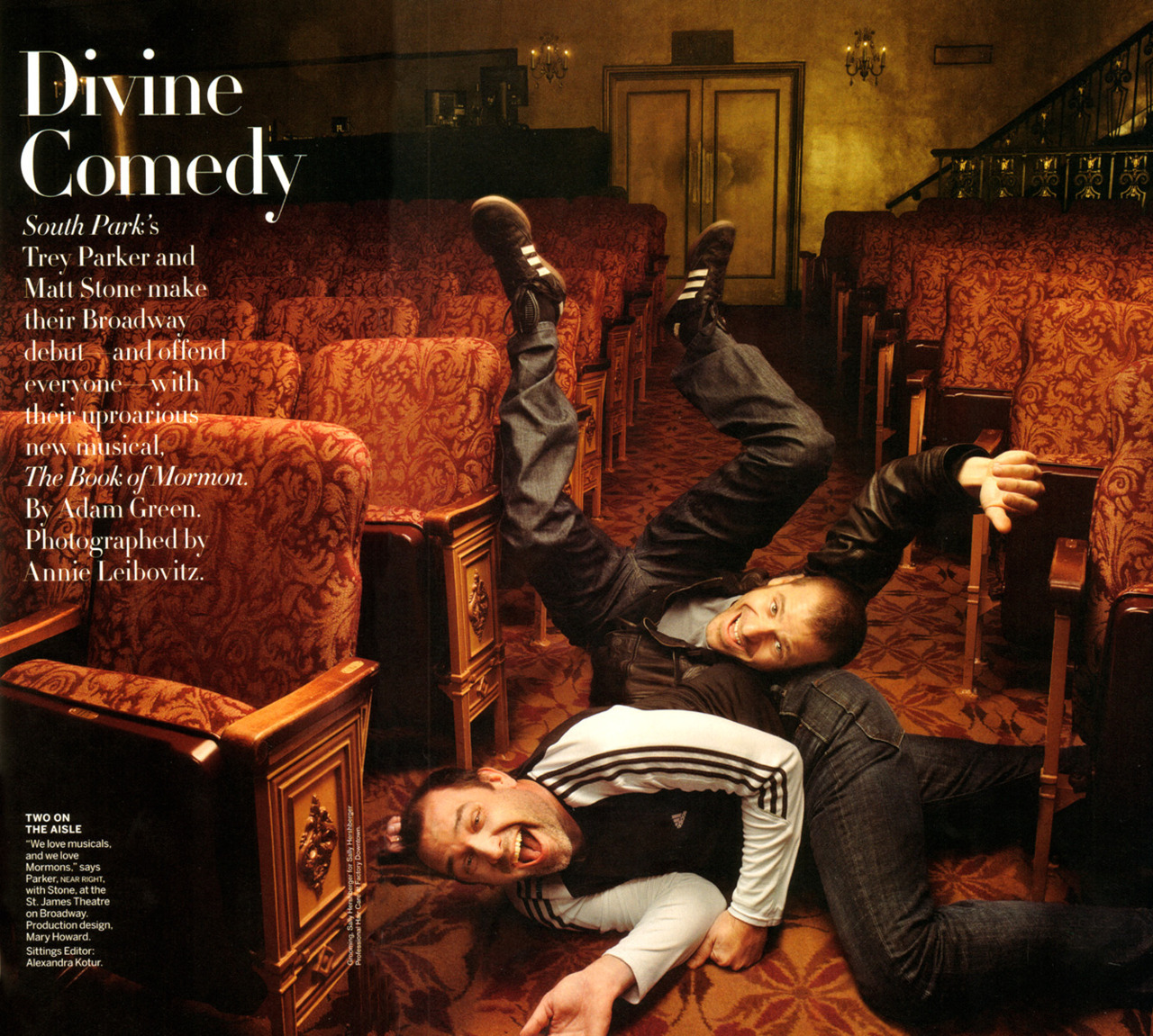 Trey Parker & Matt Stone - Vanity Fair by Annie Leibovitz