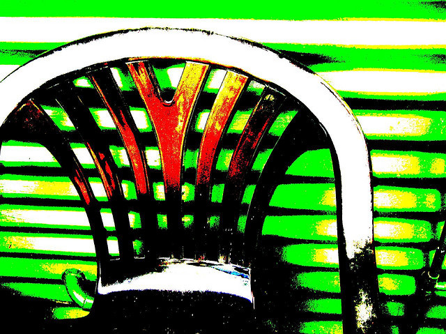 Curved form of chair and corrugated iron  on Flickr.The Transformation of Plastic