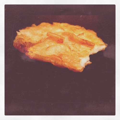 Millennium Falcon potato cake. #starwars (Taken with instagram)