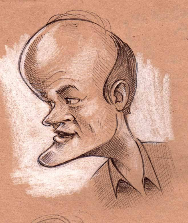 "Sketch of Colin Mochrie from ""Who's line is it anyway"""
