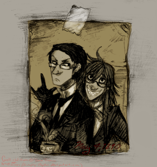 loopyart:  This is the last old Tumblr request I have~! 'Tis another Grell and Will photo~!