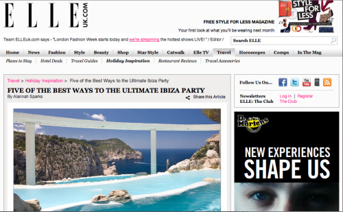Ibiza Party Guide, Elleuk.com Travel, 30/09/11