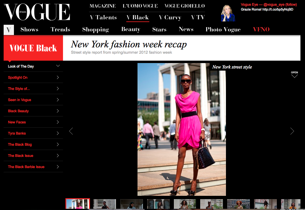 View the exclusive slide show for Vogue.IT / Vogue Black