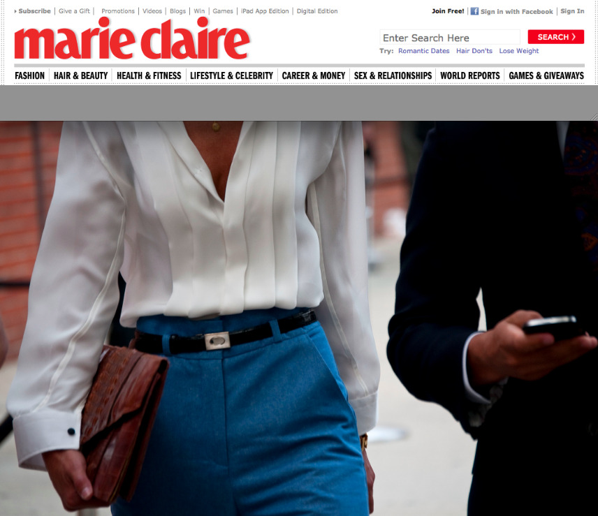 8 days of shooting for Marie Claire.com was a pleasure.  View the entire slide show (over 150 photos) by clicking the link. (Day 8 should be up right now.  I'll post a few of my favorite photos on Guerreisms.com over the weekend.)