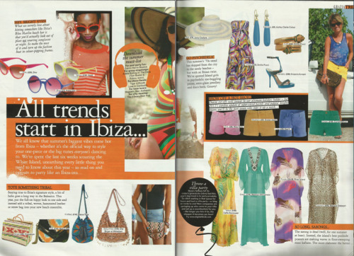Grazia Magazine, August 2011, written together with Hannah Almassi