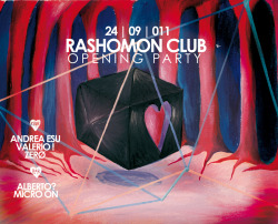 BACK TO BLACK BOX Poster Design for Rashomon Club Opening Party  6th season GET LOADED!! OR GET OUT www.rashomonclub.com kero © 011