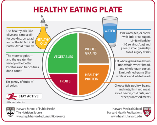 Harvard's Healthy Eating Plate. I like!