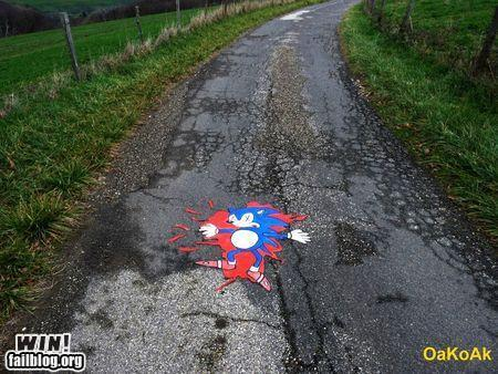 Epic Win-Crushed Mario